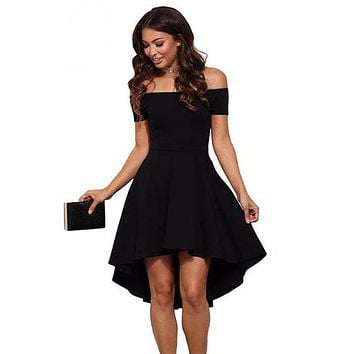 Off Shoulder All The Rage Skater Black Dress
