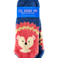Shea-Infused Lounge Socks Hedgehog