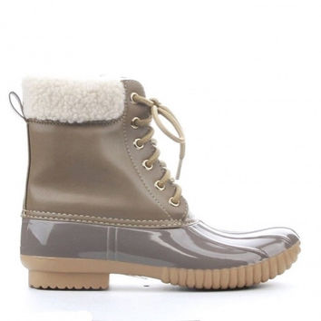 Camel Duck Boots