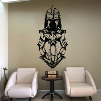 Vinyl Wall Decal Sticker Knight's Armor #1330