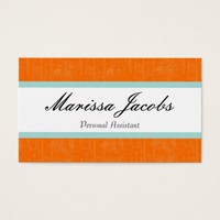 Vibrant Personal Assistant Business Card