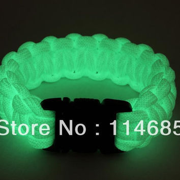 Glow in the dark  Paracord parachute cord Military Survival Bracelet