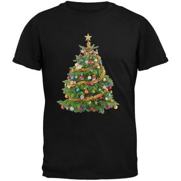 DCCKJY1 Cats In Christmas Tree Black Youth T-Shirt