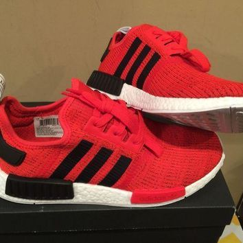 PEAP1 Adidas Mens NMD R1 Nomad bb2885 RED black white core runner Boost ultra 6