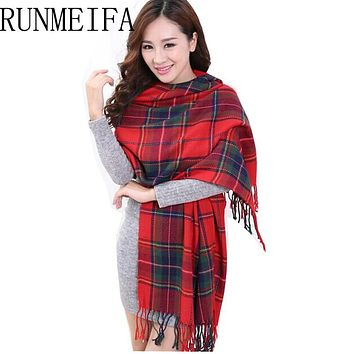 2015 Fashion Wool Women Scarf Spain Desigual Scarf Plaid Thick Large Scarf Women Warp echarpes Scarves Shawl for Woman