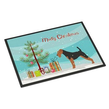 Welsh Terrier Merry Christmas Tree Indoor or Outdoor Mat 24x36 BB2903JMAT