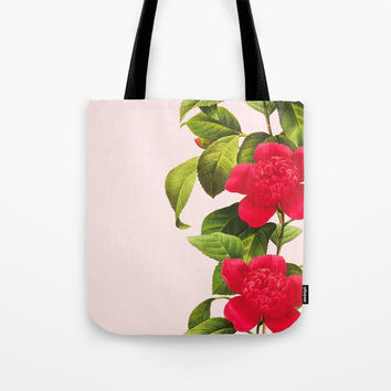 Botanical Light Kiss Tote Bag by cadinera