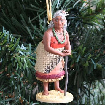 Licensed cool 2016 Custom Disney Moana Movie Grandma TALA with Cane Christmas Ornament PVC