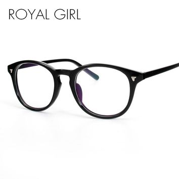 ROYAL GIRL New Simple Fashion Eyeglasses Frames Women Round Vintage Clear Lens
