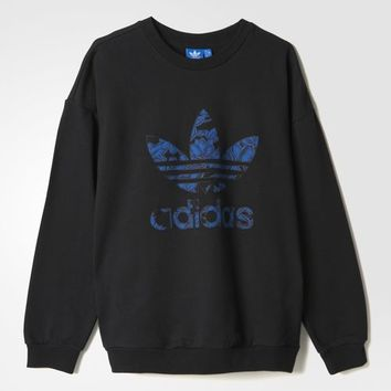 adidas BL FLOR SWEATER - Black | adidas US