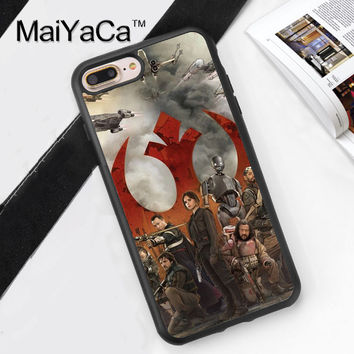 Star wars Printed Soft Rubber Phone Cases For Apple iphone 6 Case For iphone 6S 6Plus 7 7Plus 5 5S 5C SE 4S Cover