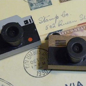 Retro Camera Rubber Stamp -  Vintage Wooden Camera Stamp - Choose Your Camera