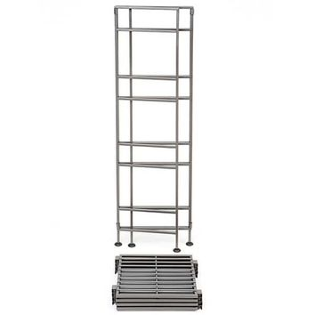 Seville Classics 4-tier Satin Pewter Iron Bar Square Tower Shelving Unit | Overstock.com Shopping - The Best Deals on Office Storage & Organization