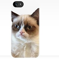 Large Grumpy Cat iPhone Case