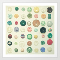 The Button Collection Art Print by Cassia Beck