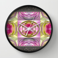 Star Elite Kaleidoscope Wall Clock by JMcCombie