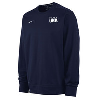 Men's Nike Navy Team USA KO Performance Pullover Sweatshirt