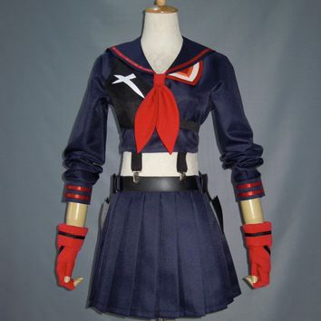 Custom Made KILL la KILL Ryuko Matoi japanese Anime Party Halloween Cosplay costumes For Women  Dress  Free Shipping