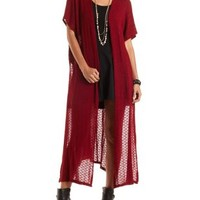 Oversized Open Back Duster Cardigan by Charlotte Russe