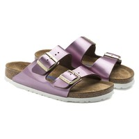 Birkenstock Beach Slippers Arizona Soft Footbed Leather Spectacular Pink Sandals
