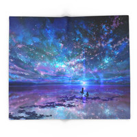 Society6 Ocean, Stars, Sky, And You Blanket