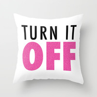 Book of Mormon - Turn it off Throw Pillow by Firlachiel