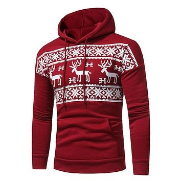 Hoodies Men Hoodie Street wear Deer Printing Hoodies Men Fashion Tracksuit Male Sweatshirt Hoody Mens clothing