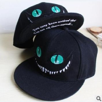 New 2015 Alice in Wonderland Cheshire Cat cartoon baseball caps BUGS BUNNY SYLVESTER hats for Men and Women snapback hiphop bboy