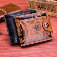 Mens Leather Wallet Money Clip Gift for Dad BF