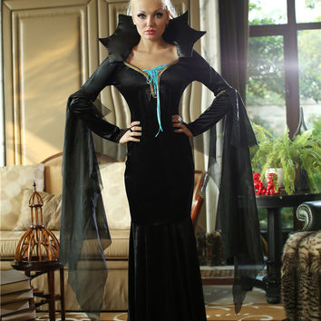 Black Fishtail Dress Evil Queen Costume