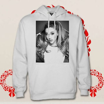 ariana grande hoodie. pullover. sweatshirt. sweater. color black white green blue gray red for size s - 3xl