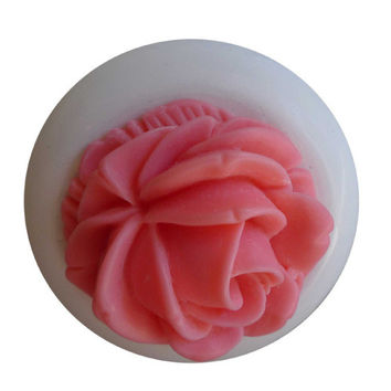 SpokeNWheel Flower Cabochon Bicycle Bell Pink