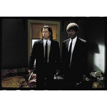 Pulp Fiction Travola Jackson Suits Movie poster Metal Sign Wall Art 8in x 12in