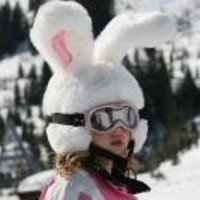 Rabbit Ski Helmet Cover for Kids & Adults. Crazy Large Flexible Ears