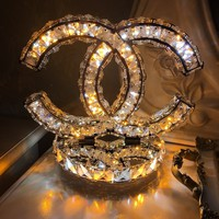CC Chanel Crystal Bling Table Lamp - B