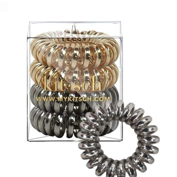 Metallic Hair Tie Coils (Set of 4)