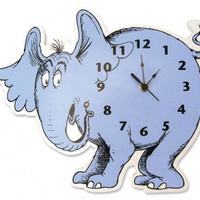 Dr. Seuss Horton Hears A Who Horton Elephant Wall Clock