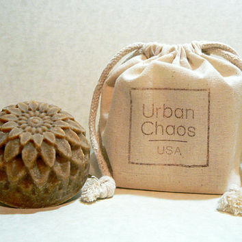 Oatmeal Soap Set of 2 - Nut Free Soap, Organic Hemp & Olive Oil, Unscented Non Drying Soap for Sensitive Skin and Dry Skin - Vegan Skin Care