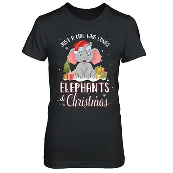 Just A Girl Who Loves Elephants And Christmas