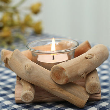 Handmade Wood Candle Holder Set Home Gift 21