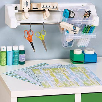 Hobby Hanger Wall Organizer and Set of 4 Bins