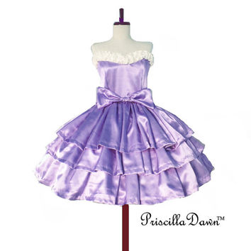 Three Tier Violet Cake Dress -------CUSTOM in YOUR size Spring 2013 Collection Bridal Wedding Gown