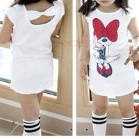 Minnie Mouse Short Sleeve Above Knee Summer  Dress