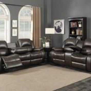 Samara 2-Piece Reclining Sofa and Loveseat w/ Storage Console Set