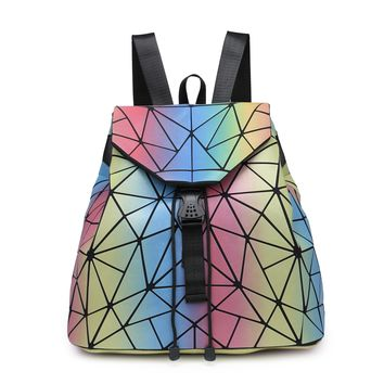 Iridescent Back Pack Back To School Fashion Back Pack
