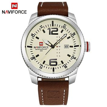 NAVIFORCE NF9063S Military Sports Men's Quartz Leather Watch