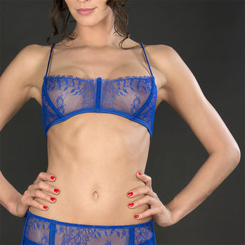 Maison Close: Villa Satine Bleu Corset Bra