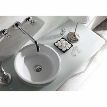 Empire White Round Ceramic Vessel Sink Bowl Above Counter Lavatory Washbasin
