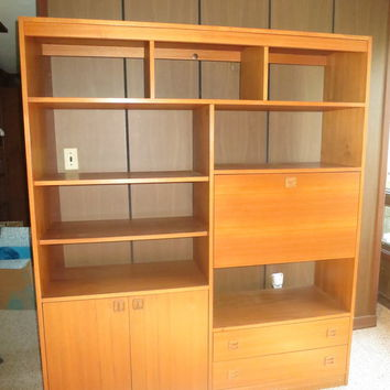 Mid Century Teak Wall Unit/Shelf