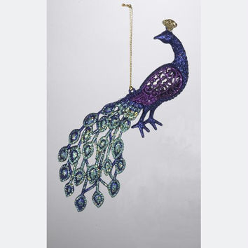 Christmas Ornament - Purple Peacock